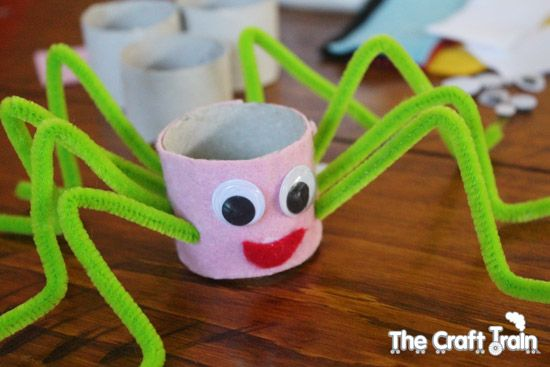 Toilet paper roll spider