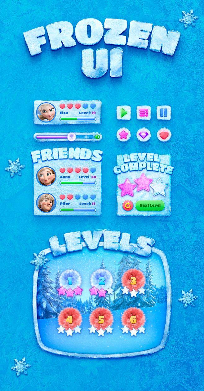 snow, ice, frozen ui