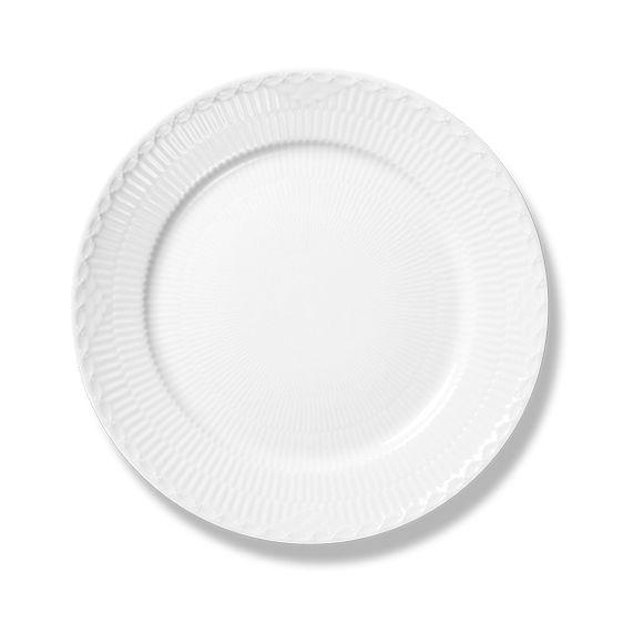 Royal Copenhagen White Fluted Half Lace Lunch Plate 22 cm