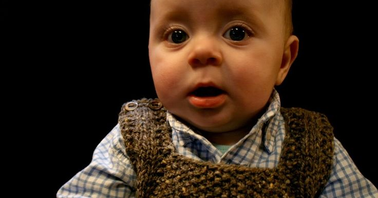 Another vest - and this time, it's all about getting our little boys ready for the academic life. I've written a 9 to 12 month si...