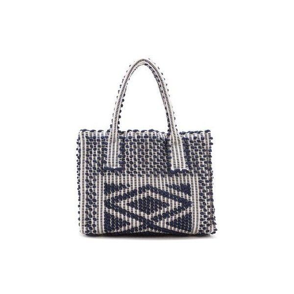 Antonello Fronte Shoulder Bag ($500) ❤ liked on Polyvore featuring bags, handbags, shoulder bags, navy, navy tote, navy shoulder bag, white purse, shoulder tote bags and shoulder handbags