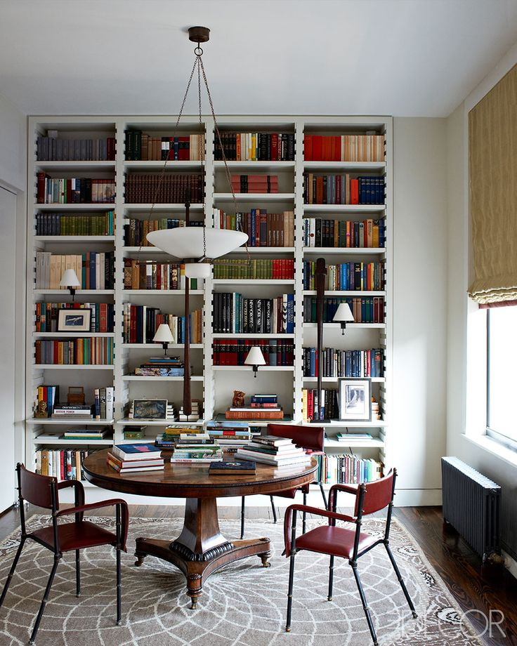 Library In A NYC Loft Apartment Designed By Len Morgan
