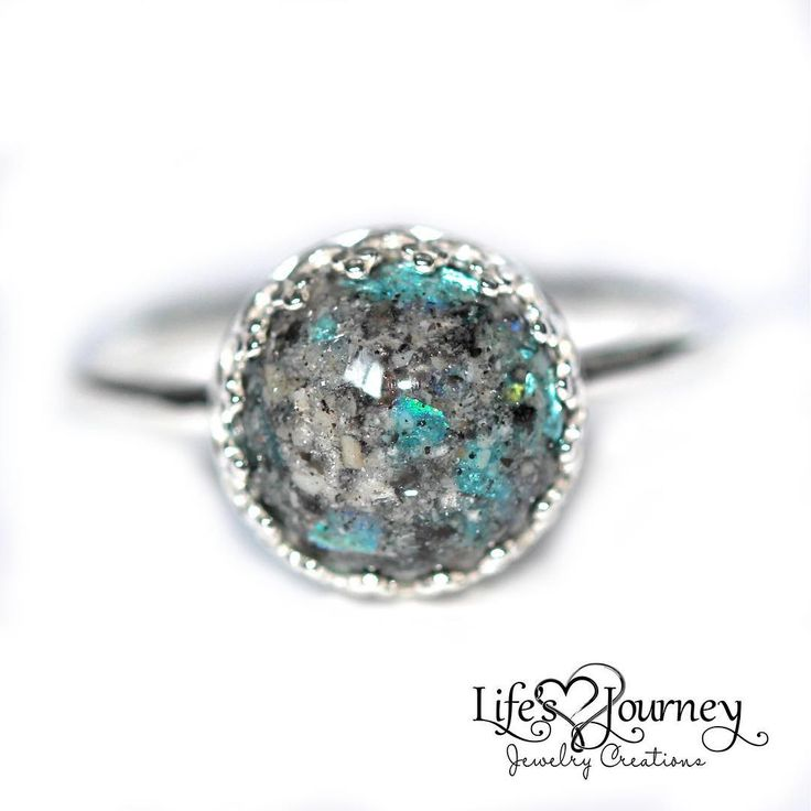 Ashes ring; keepsake ring; cremation ring; keepsake jewelry; https://www.lifesjourneyjewelrycreations.com