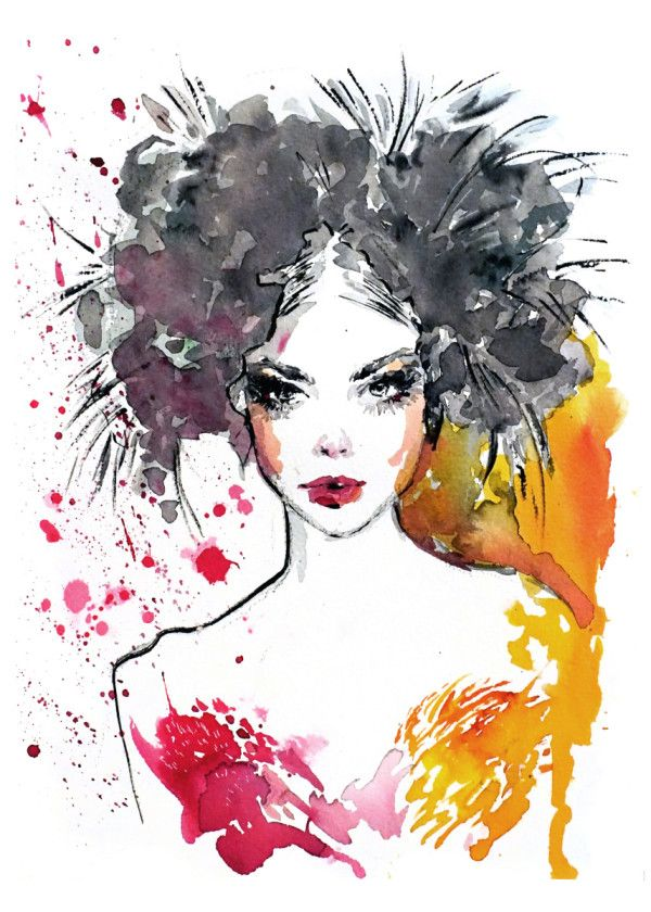 Fashion Illustration With Roma Paintings Poster Print Metal