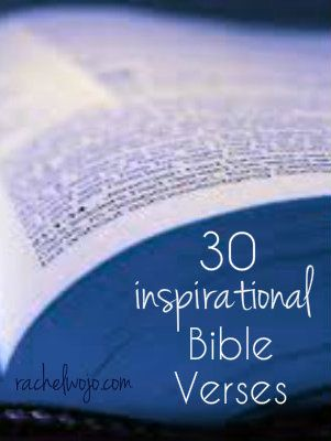 30 inspirational Bible verses- perfect for one a day use!- check out the suggested idea for having your own verse a day!