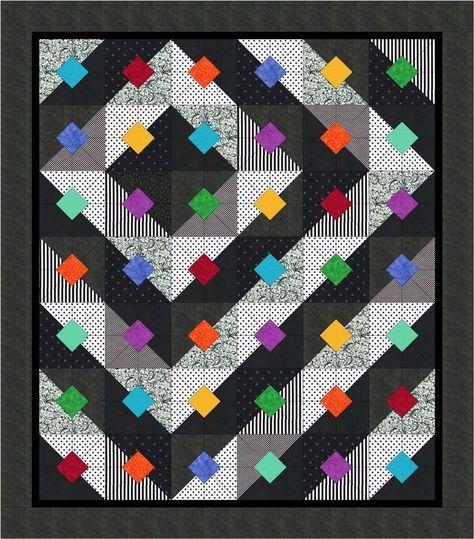 Bright Black&White Free quilt pattern
