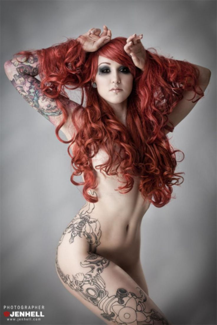 naked redhead girls with tattoos Sexy