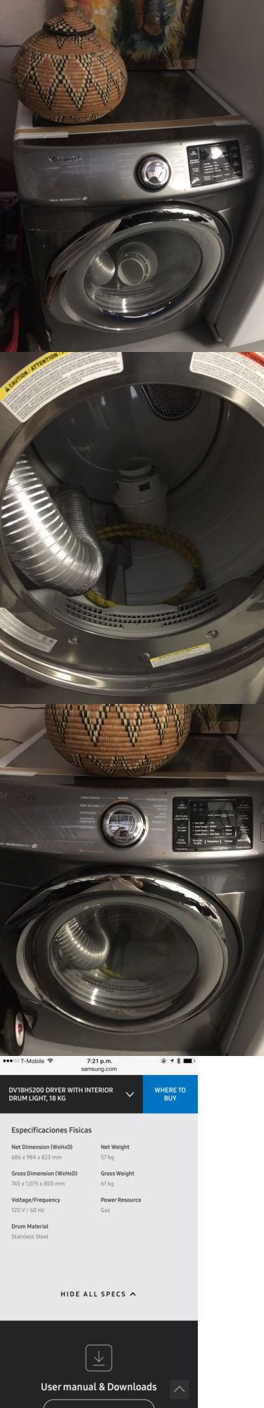 Dryers 71254: Samsung Gas Dryer, Secadora A Gas -> BUY IT NOW ONLY: $300 on eBay!