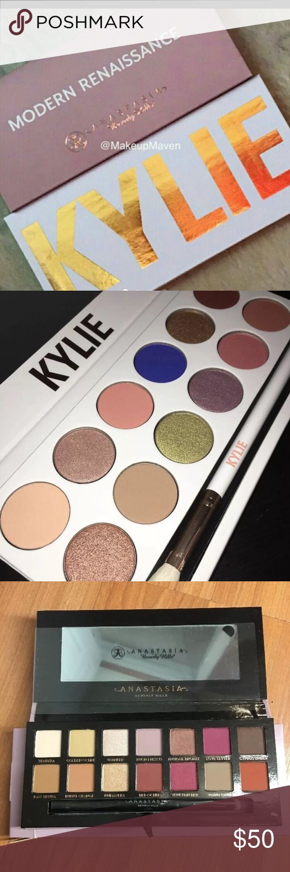 Bundle anastasia bh and Kylie Jenner royal peach 1 abh modern renaissance palette 1 Kylie Jenner royal peach Eyeshadow palette brand new in box authentic fast shipping Makeup Eyeshadow