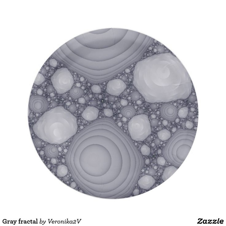 Gray fractal paper plate,  artwork, buy, sale, gift ideas, zazzle,  gray, grey, liliac, violet, fractal, space rocks, space stones, moon stones, abstract, pattern, monochrome, stationery, paper, plate