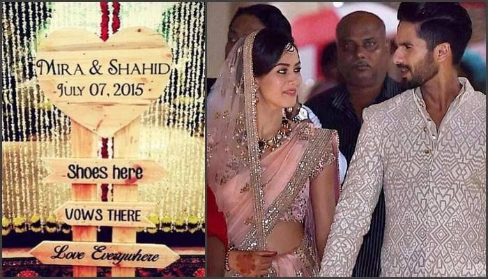 Go for some light Zari or embroidery work in pink like Meera is seen to wear. #Shahidwedding #Shloka
