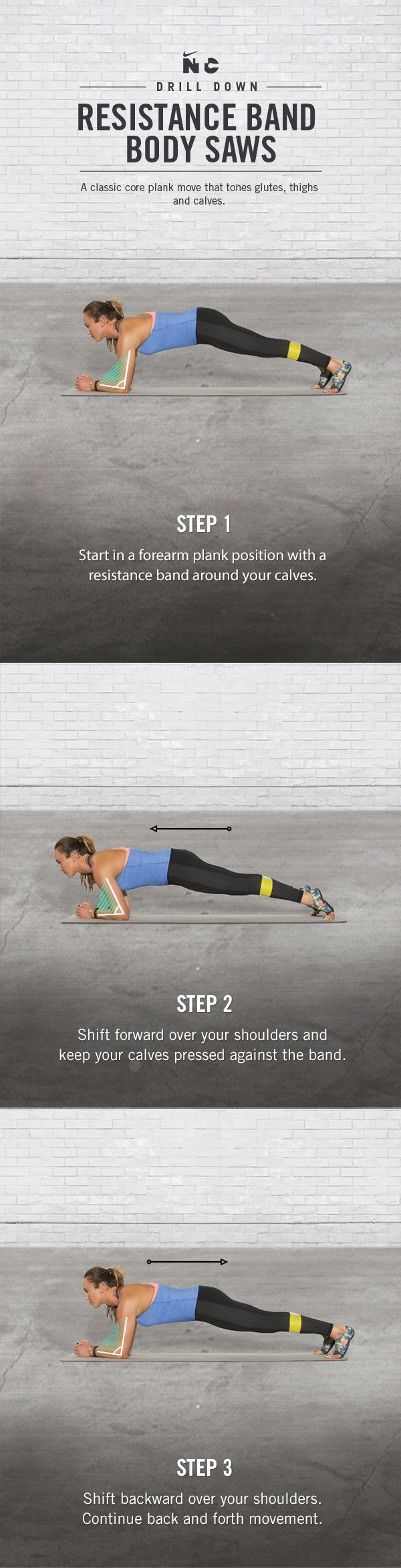 Tone glutes and thighs with Resistance Band Body Saws in Carissa Moore's Beach Balance workout on Nike+ Training Club.