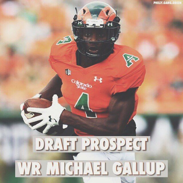 Overview: Michael Gallup is 61 and weighs in at 202 lbs. Gallup earned first-team All-Mountain West Conference accolades by catching 76 passes for a conference-high 1272 yards and 14 touchdowns at Colorado Sate.  Strengths: Possesses good combination of height weight speed. Light-footed bounding athlete. Sudden feet and quick hands are effective in ridding himself of press attempts. Drives off cornerback into an aggressive backpedal with hard vertical push up the field. Can brake sharply to…