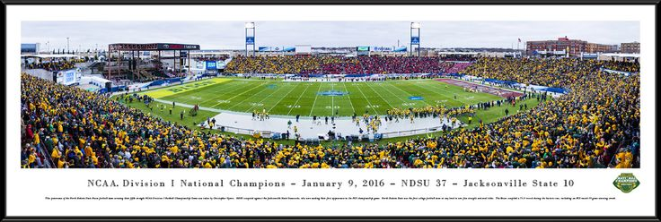2016 NCAA FCS Football Championship Panoramic Picture - Standard Frame $119.95