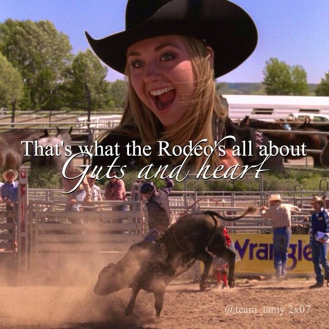 The one and only time Ty Borden rode a bull :'D Season 2