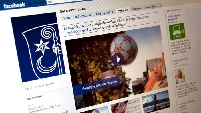 Facebook landing page fra gamle dage, før den nye tidslinie blev introduceret.