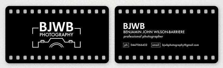 BJWB Photography - Business card design