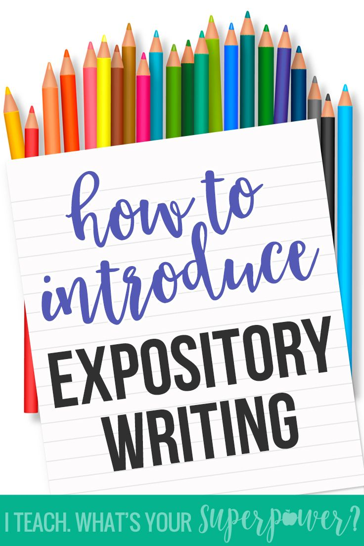 expository writing lesson Writing center write about was built to be a part of the writing process in classrooms lesson one: exploring expository writing ideas lesson two.