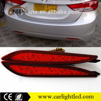 ABS Material 12V Car Brake Lights For Hyundai Elantra 2012 Warning LED Rear Lighting Lamp Bumper Reflector