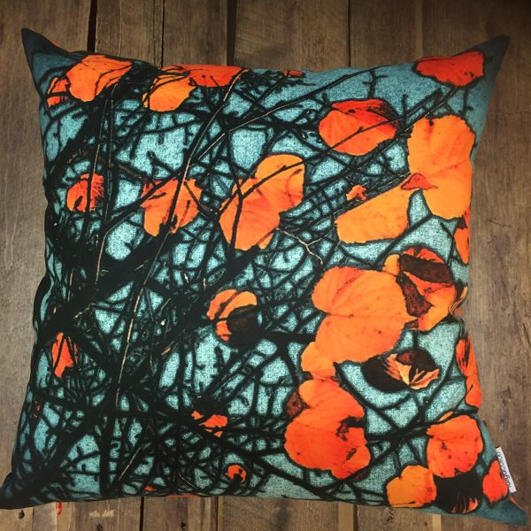 Turkoosi Syksy pillow (65 x 65 cm) by Taiga Colors