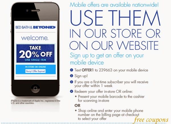 Discount coupon bed bath and beyond online