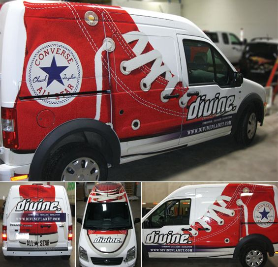 Divine Decadence in Edmonton gets a Chuck Taylor Vehicle Wrap ...