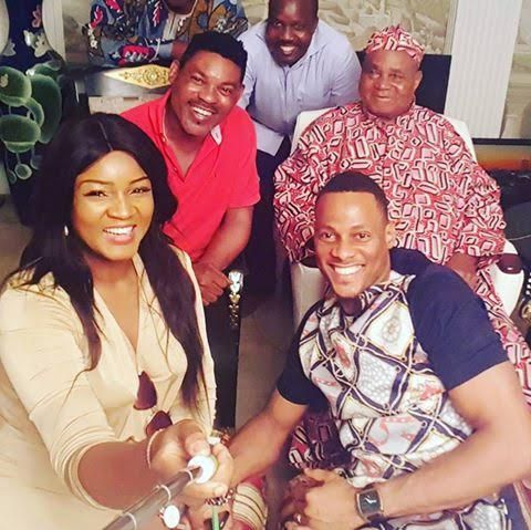 Asama Of Benin Chief Gabriel Igbinedion Hosts Omotola Jalade-Ekeinde And Husband In Benin (Pictures)