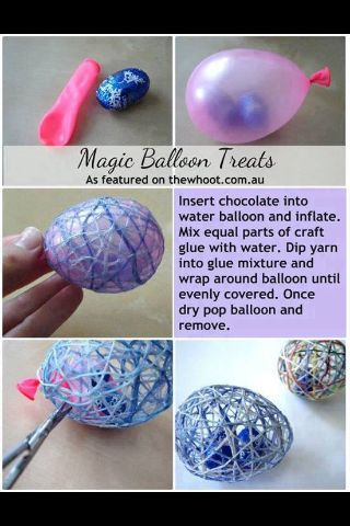 Magic Balloon Treats. I am so doing this for Easter this year AWESOME IDEA!