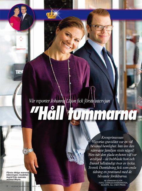 Crown Princess Victoria in a MAYLA Dress as seen in Svensk Damtidning