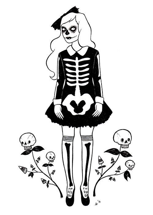 Gothic Charm School: pretty things • funnyskullgrin:   Skullflowers became a definite...