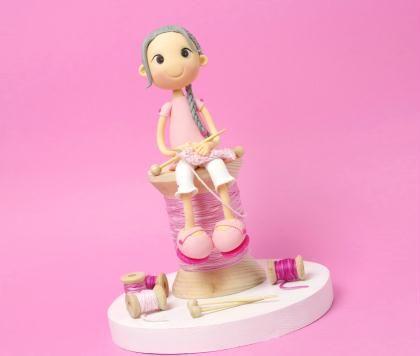 Modelage figurine en porcelaine froide