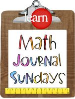 Runde's Room: Math Journal Sundays  Much more interactive way to take math notes!
