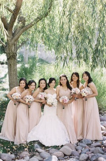 Blush bridemaid dress