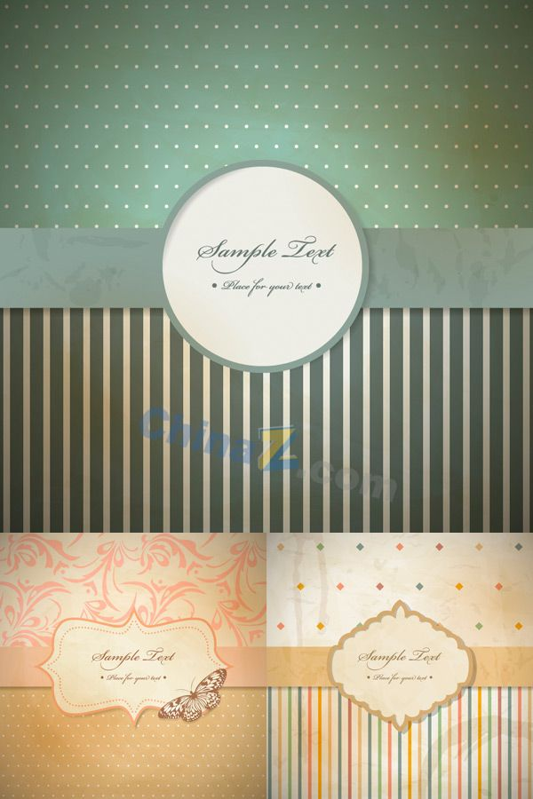 European traditional invitations vector material 9 best