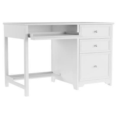 Oxford White Writing Desk 30 In H X 48 In W White Writing Desk White Computer Desk Cheap Office Furniture