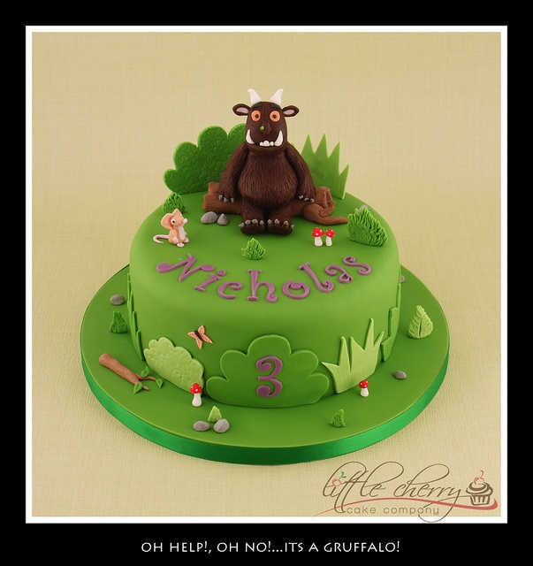 Gruffalo cake - I need this for Ellis!!