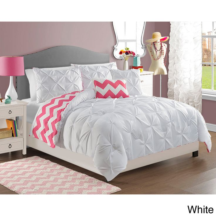 Chelsea 4-piece Reversible Comforter Set - Overstock Shopping - The Best Prices on Victoria Classics Kids' Comforter Sets