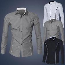 De estilo moderno para hombre de Superdry de manga larga Vestido Casual Algodón Camisas Fit Slim Tops