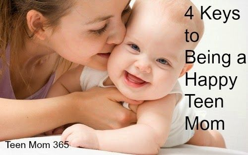 4 Keys to Being a Happy Teen Mom