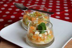 Verrine melon, concombre et feta #Dodues #melon #concombre #apéro #feta