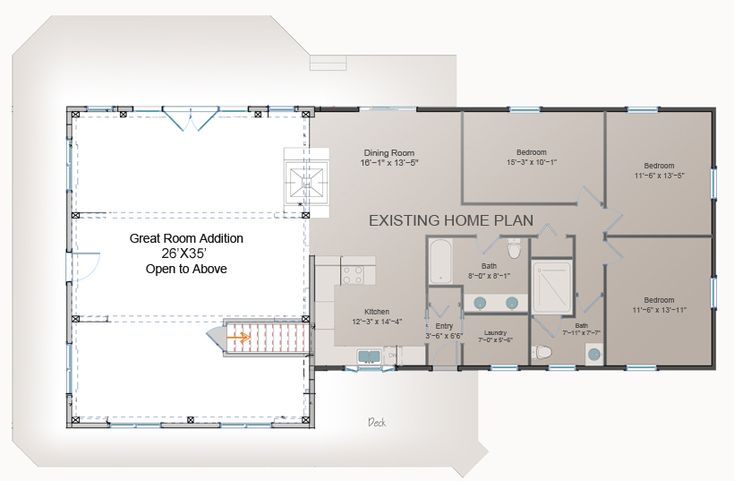 Great Room Addition Plan