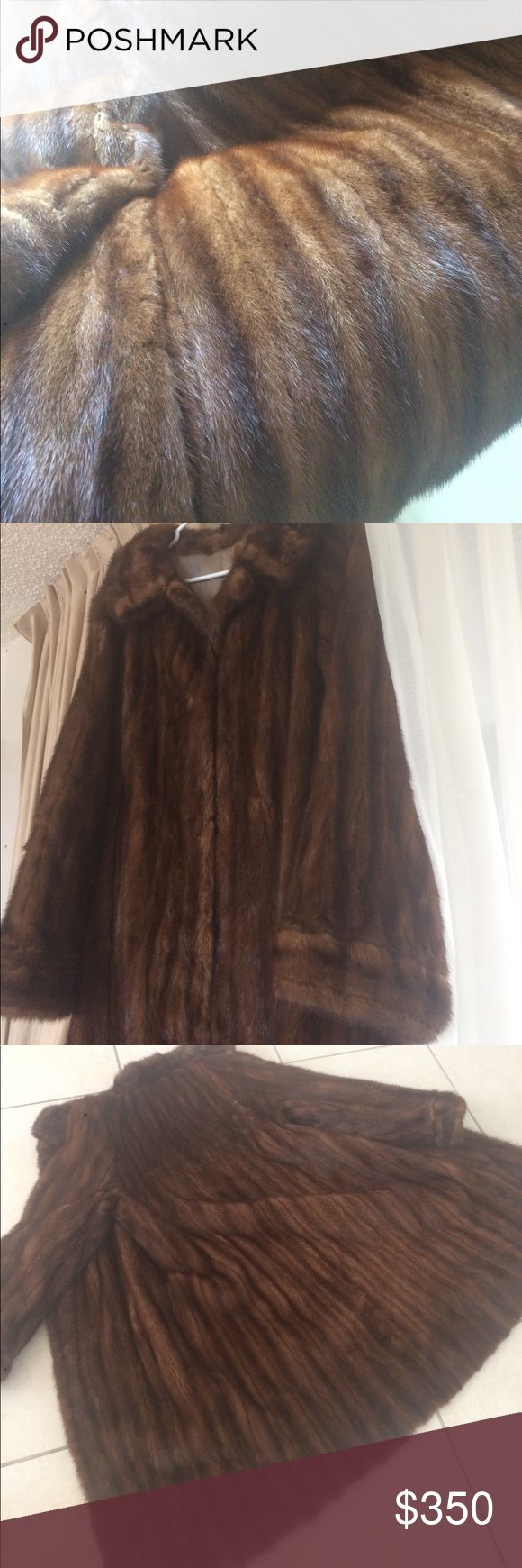 "Vintage mink coat Fits like a size 12. No tags lined with monogram. 2 tie front slight alterations in lining. Can't see when worn. 40"" long swing coat. Absolutely fabulous. Must let go . I live in Florida Jackets & Coats"