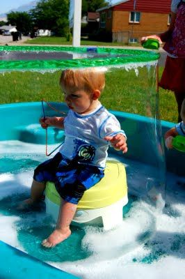 Bubble Party! like the stool for the little ones so the dont slip