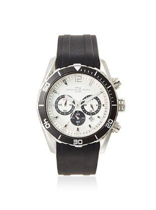 Officina del Tempo Men's OT1044-1121WNN Armatore Black/White Chronograph Watch