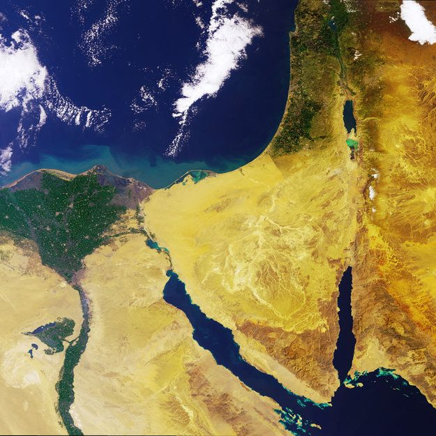 Space in Images - 2005 - 04 - The Nile Delta and the Sinai Peninsula