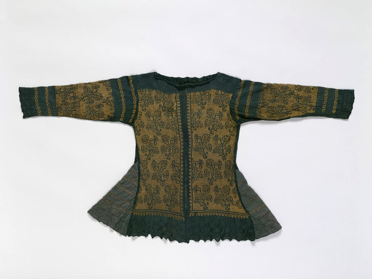 Knit Jacket  Place of origin: Italy (possibly)  England (possibly)  Date: 1600-1625  Materials and Techniques:Silk thread, silk thread partially wrapped with silver  Museum number: 106-1899