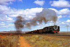 R4436.  25NC on the De Aar - Kimberley Line.  4th September,1972. (Ron Fisher) Tags: sas sar narrowgauge 484 schmalspurbahn 25nc southafricanrailways voieetroite capegauge 36gauge southafricansteam vision:mountain=0709 vision:outdoor=096 vision:sky=0826 vision:clouds=0598