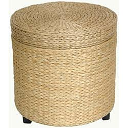 @Overstock.com - Rush Grass Storage Footstool (China) - This woven-grass, modern footstool accents various furnishing styles. It is made from rush grass and showcases a wood frame. This footstool also has stained wooden feet. Select from black, natural, and red brown for this footstool. Use it in any room.  http://www.overstock.com/Worldstock-Fair-Trade/Rush-Grass-Storage-Footstool-China/5085641/product.html?CID=214117 $73.00