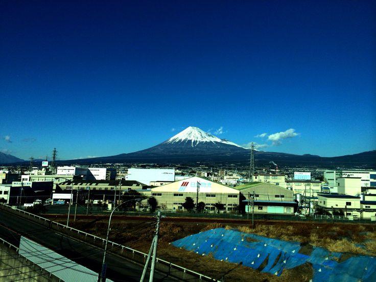 View of Mt Fuji from a Shinkansen