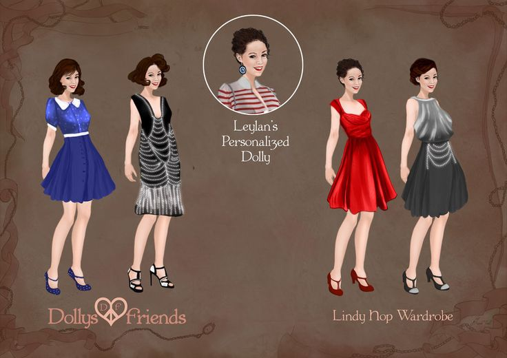 Custom Dolly for Leylan with Lindy Hop Wardrobe by BasakTinli